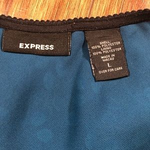 Express Skirts - Express Teal Turquoise black print skirt size 10